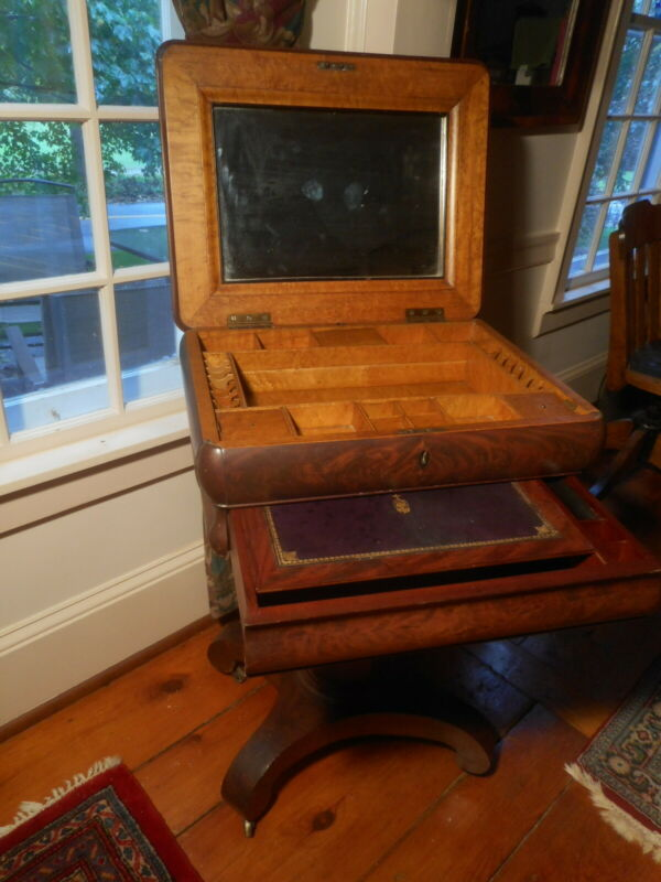 Antique English Victorian Writing Table/Desk with Secret Hidden Compartments