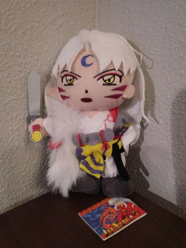 "2005 Inuyasha Sesshomaru 9"" Plush by Rumiko Takahashi New"