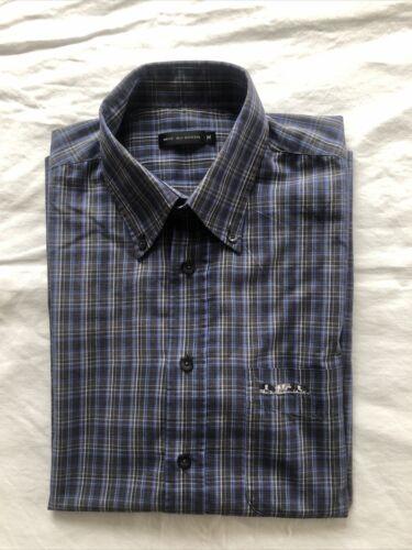 Magnifique chemise à manches courtes mise au green  taille m Écossaise gris/bleu