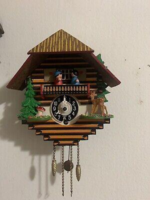 2 Used vintage West Germany cuckoo clock German Engstler Works Perfect No Key