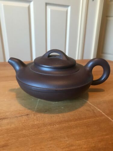 RARE VINTAGE CHINESE YIXING ZISHA  CLAY TEAPOT WITH CHINESE MARKED