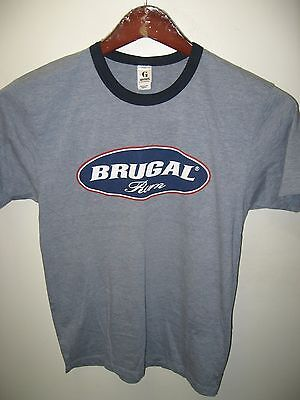 Brugal Rum Puerto Plata Dominican Republic Cocktail Bar Thin Ringer T Shirt Sm