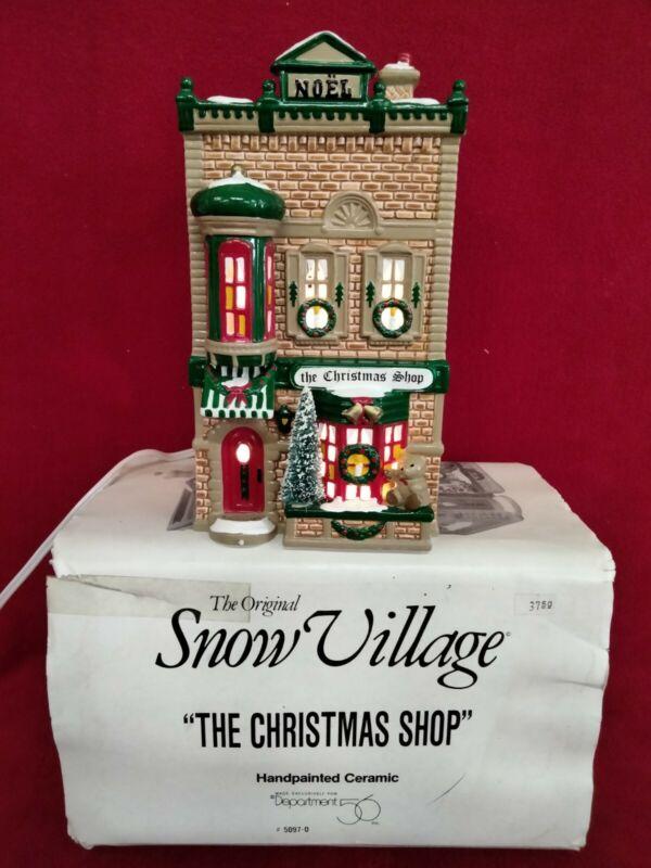 Department 56 Snow Village The Christmas Shop 5097-0. 1991