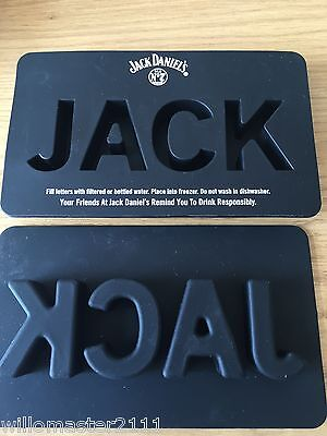 GENUINE JACK DANIELS RUBBER  ICE CUBE TRAY OLD No7 BRAND