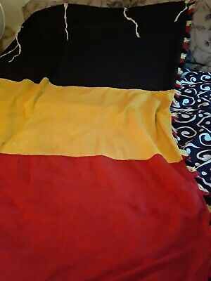 Belgium Mardi Gras Flag With fringes 6' X 4' there are 5 ties for a flag pole