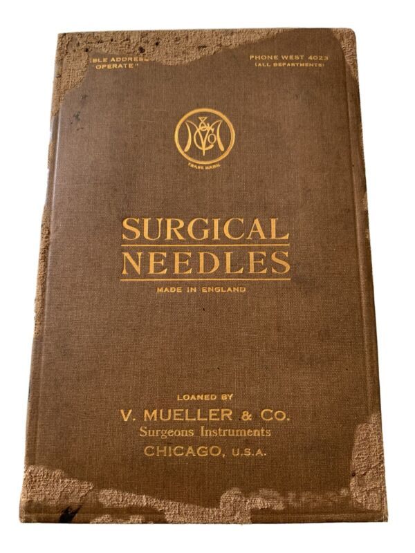 Vintage Surgical Needles Surgeon Medical Approximately 1940 - 1950's Display
