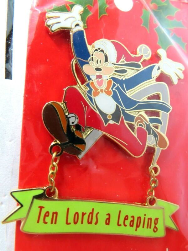 Disney Pin12 Days of Christmas 2004 Ten Lords a Leaping Goofy #34781