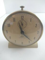 Lux Claridge Alarm Clock Waterbury White Metal 1920s Original Box & more etc b8