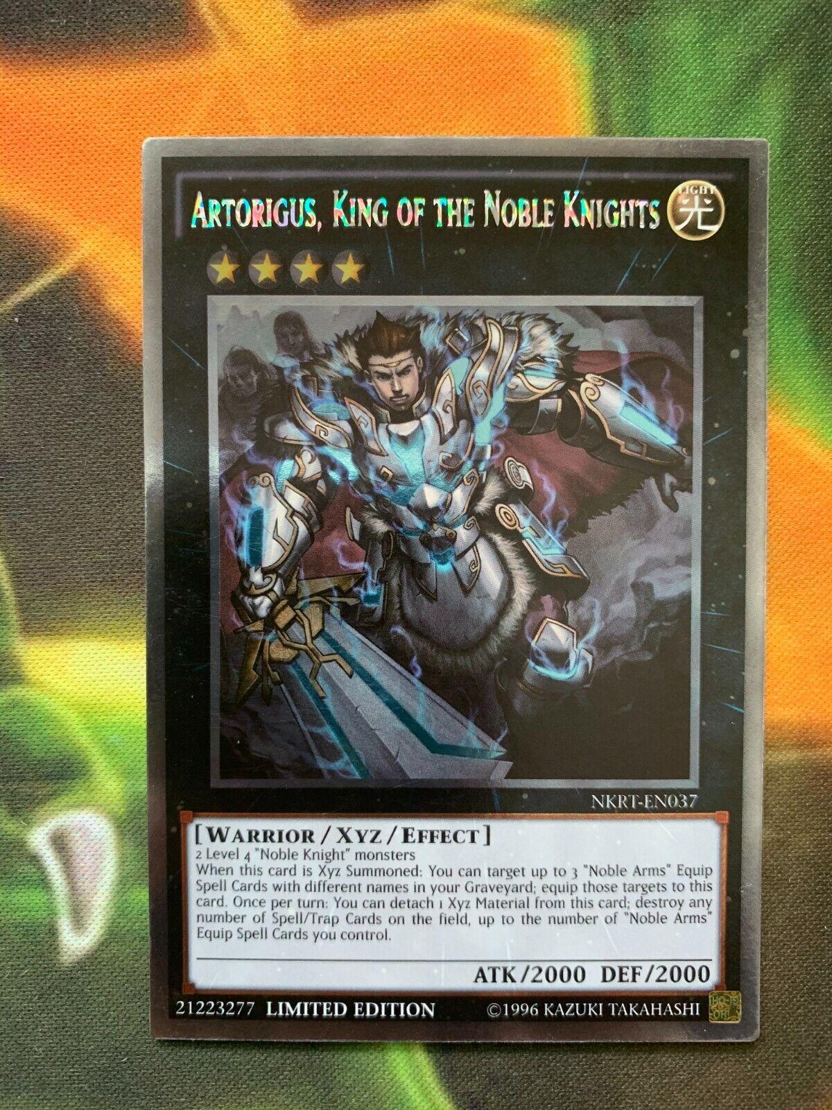 Yugioh Artorigus, King Of The Noble Knights NKRT-EN037 Platinum Rare Mint  - $3.95