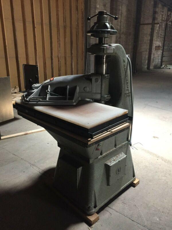 25 TON SCHWABE CLICKER PRESS, 40x20 work surface,$2800 Lowest Offer
