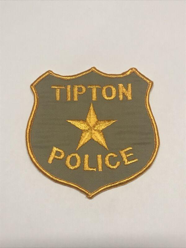 Vintage Tipton Missouri Police Dept Shoulder Patch