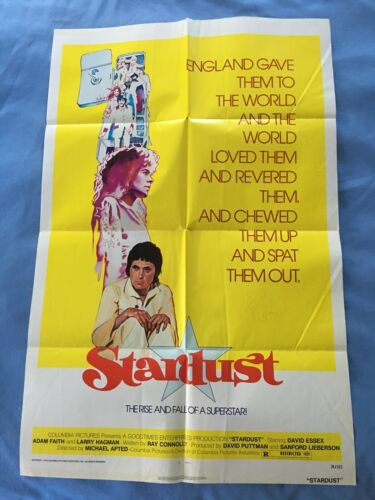 Keith Moon autographed Stardust movie poster