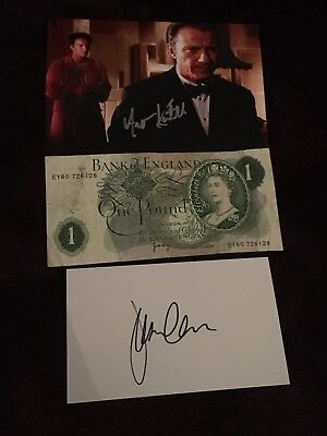 AUTOGRAPH COLLECTION JOB LOT / HAND SIGNED MIX OF CELEBRITY ITEMS