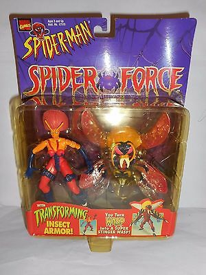 SPIDER-MAN SPIDER FORCE WASP WITH TRANSFORMING INSECT ARMOR *IMPERFECT PACKAGE