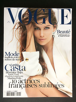 french magazine VOGUE PARIS N°927 laetitia casta berenice bejo 2012