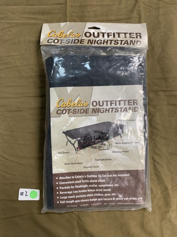 1 NEW Cabelas Outfitter Cot-Side Nightstand Camping Organizer Holder Pockets