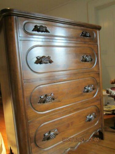 "Davis Cabinet Company, ""Lillian Russel"" 4 Drawer Dresser, Black Walnut"