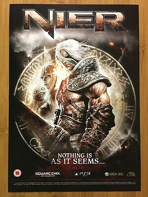 NIER Xbox 360 PS3 2010 Vintage Print Ad/Poster Official UK Exclusive Game Art!