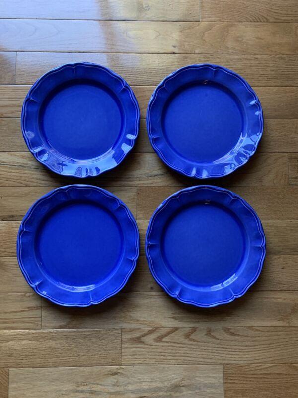 (4) Varages France LUBERON BLUE Dinner Plates