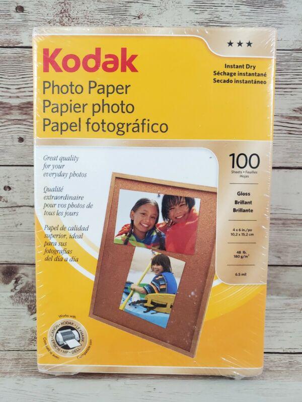 Kodak Photo Paper Gloss, 4x6 in  100 sheets