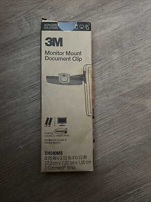 3m Monitor Mount Document Clip Dh240mb