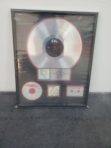 "Nirvana ""Platinum"" Record Award"