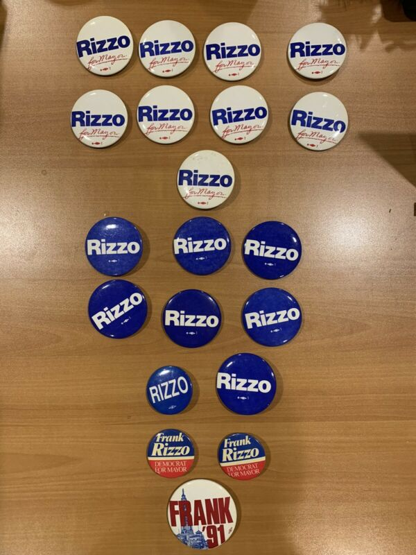 Frank Rizzo For Mayor Political Campaign Buttons- 20 Total