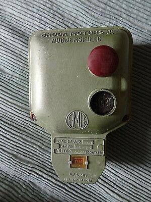 Brook Motors Ltd Industrial Machine Switch Vintage Start - Stop buttons 1960s