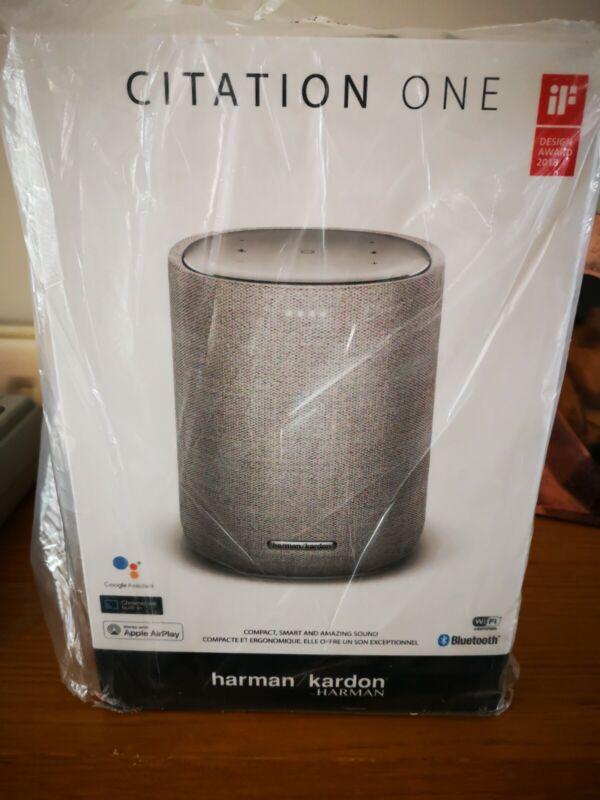 NEW+Harman+Kardon+Citation+One+MKII+Wireless+Smart+Speaker+Grey+Google+Assistant