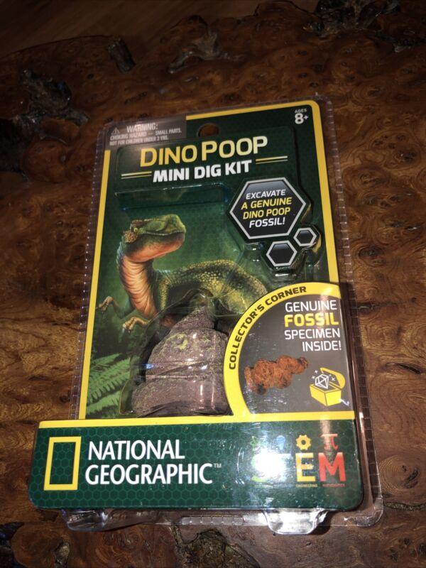 NATIONAL+GEOGRAPHIC+DINO+POOP+MINI+DIG+KIT+STEM+COPROLITE+FOSSIL+Dinosaur+Toy