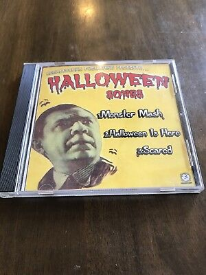 HALLOWEEN SONGS CD MONSTER MASH / HALLOWEEN IS HERE / SCARED promo