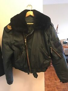 Canadian Military Winter Bomber Jacket Wool Lining