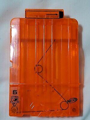 NERF N-Strike Elite 6 Round Ammo Magazine Clip Darts Gun Replacement Orange