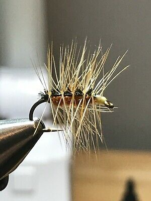 NYMPHS TROUT DRY FLIES STYLES /& SIZES 1 DZ D-2 BEAD HEAD POXY BACK/'S