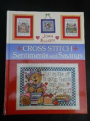 ** CROSS STITCH SENTIMENTS & SAYINGS ** Joan Elliott (2004) Pattern/Chart Book