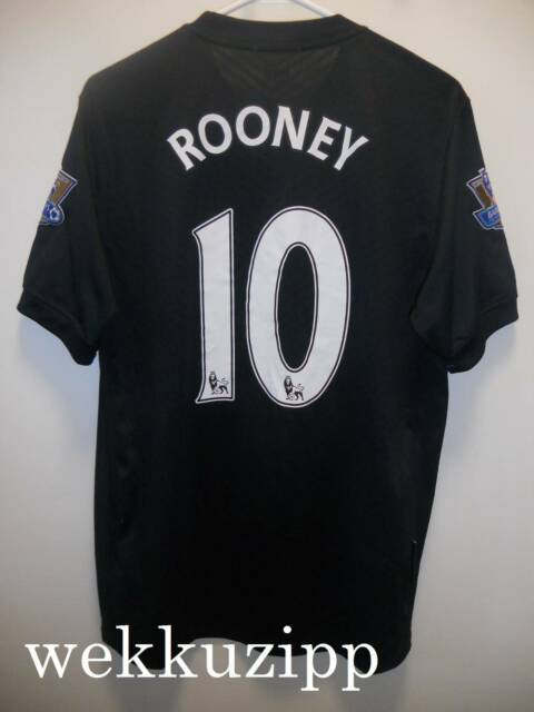 Manchester United away authentic Nike football jersey  10 Rooney ... 52f3fe28f