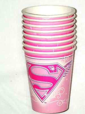 PAPER CUPS 9 oz., PARTY SUPPLIES (Super Girl Party Supplies)