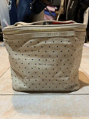 """Kate Spade Out To Lunch /Cosmetic Makeup Bag Organizer 11"""" X 6"""""""