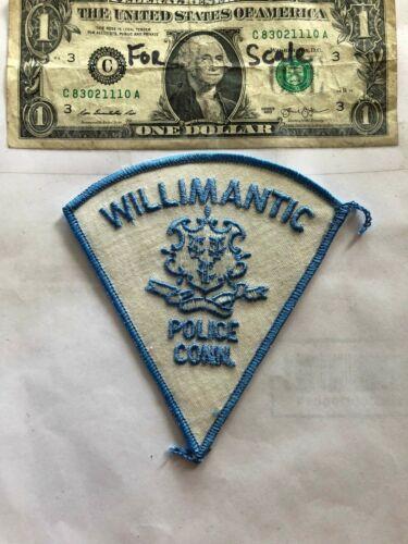 Rarer Willimantic Connecticut Police Patch Un-sewn great shape