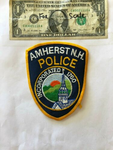 Rare Amherst New Hampshire Police Patch un-sewn in great shape