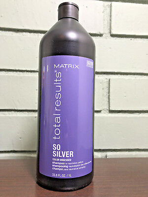 Matrix Total Results So Silver Shampoo 33 8Oz   New Packaging   Free 2 Day Ship