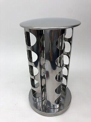 Kamenstein 20-bottle spice rack holder square silver rotating spice rack/no jars
