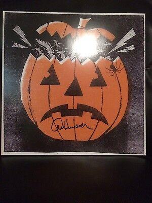 Halloween III 3 Mondo Signed by Alan Howarth Orange w/ Black Color LP Vinyl - Halloween Iii Vinyl