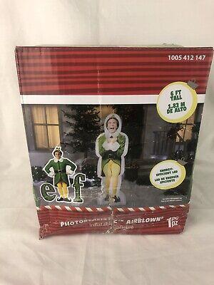 Buddy the Elf Inflatable Christmas Outdoor Indoor Yard Decor 6' Airblown New NIB