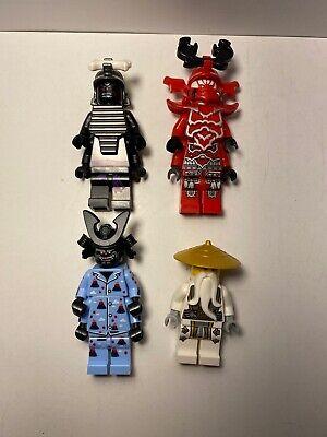 Lego Minifigure Lot Ninjago Sensei Wu Garmadon 4 Arm Master General Kozu Villain