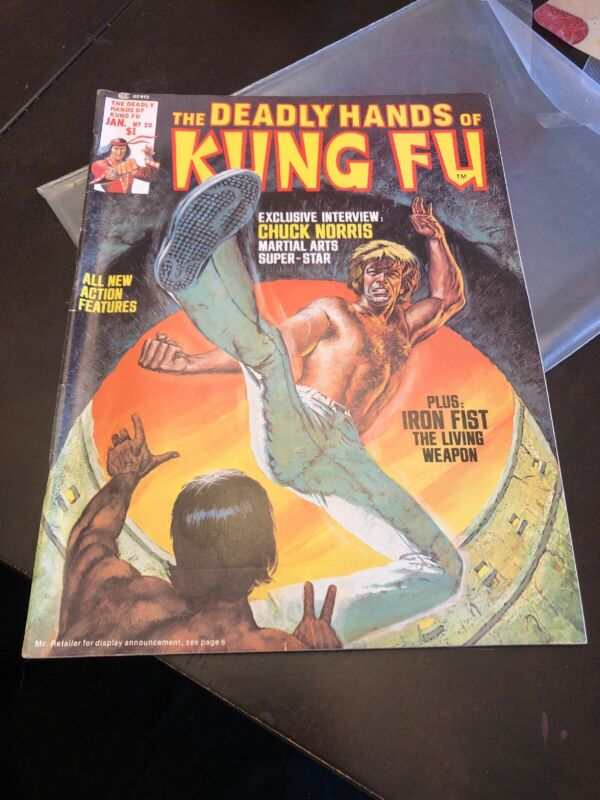 The Deadly Hands of Kung-Fu (Marvel, 1976) #20 - Chuck Norris Cover & Story (VF)
