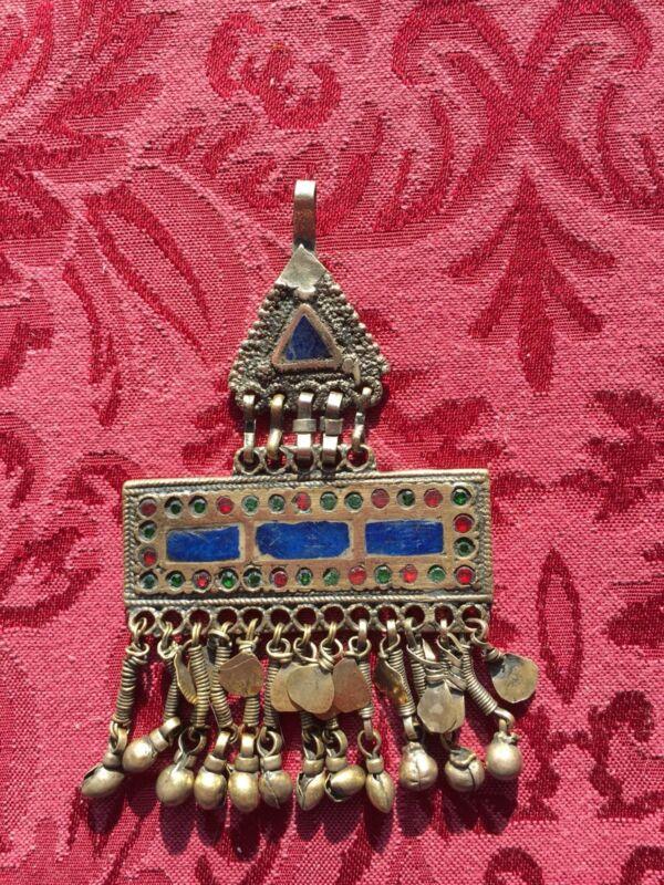 Vintage Afghan Kuchi tribal Berber  Fibula Pendant