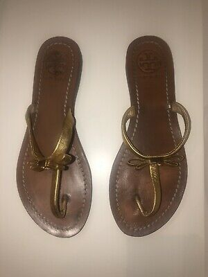 Tory Burch Gold Sandal Size 6M. Great Deal!