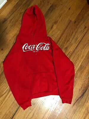 Vintage Red Coca-Cola Hoodie Large But Fits Like A Medium