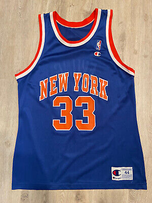 VTG Champion Patrick Ewing Jersey New York Knicks RARE NBA Vintage 90s Size 44
